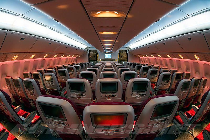 Qatar Airways Economy Class cabin