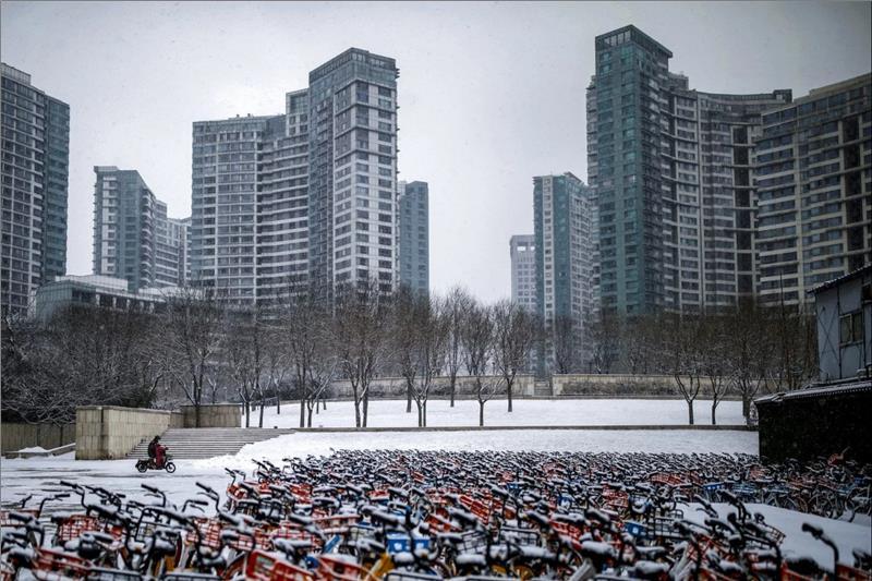 Bicycle parking area in Beijing
