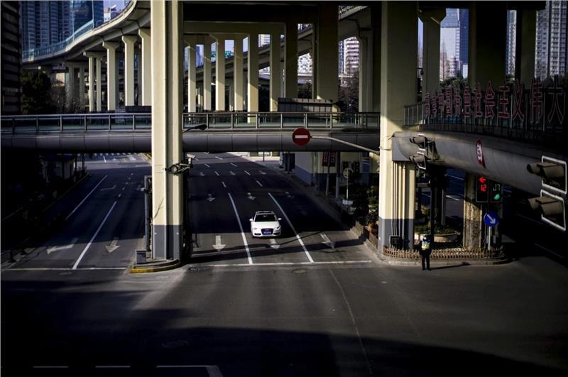 Empty lanes in Shanghai