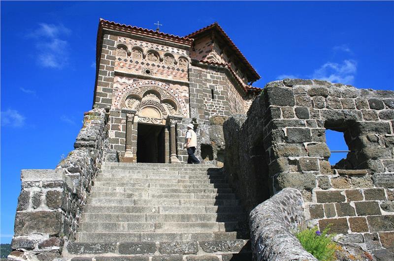Exterior and facade of Chapel Saint Michel d Aiguilhe