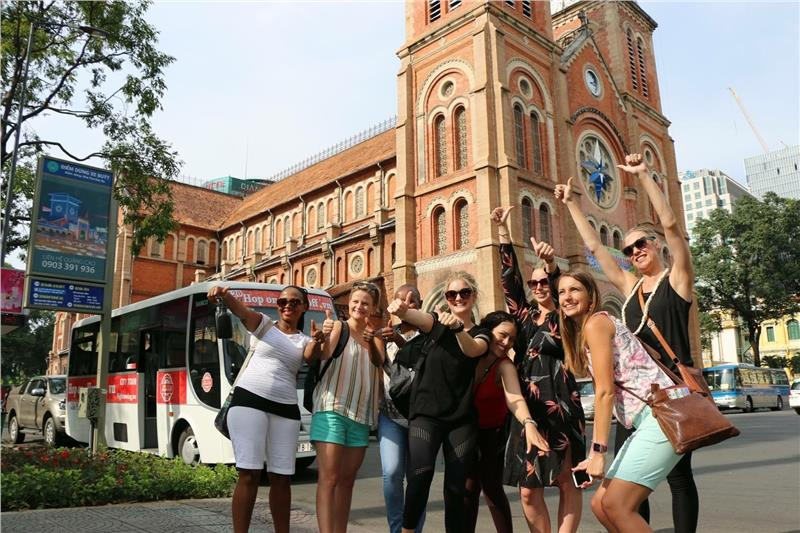 International tourists in Ho Chi Minh City