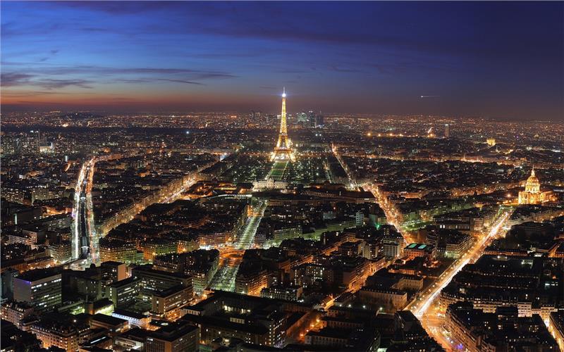 Skyline Paris at night