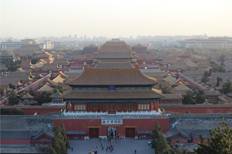 Sunset on Tiananmen Square