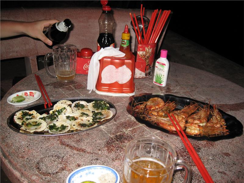 Delicious seafood in Mui Ne beach