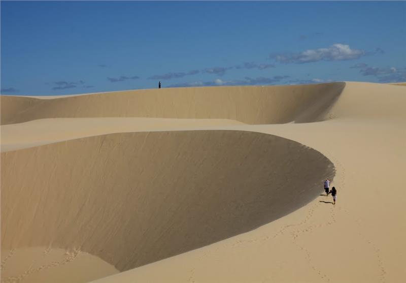 Immense White Sand Dunes Mui Ne