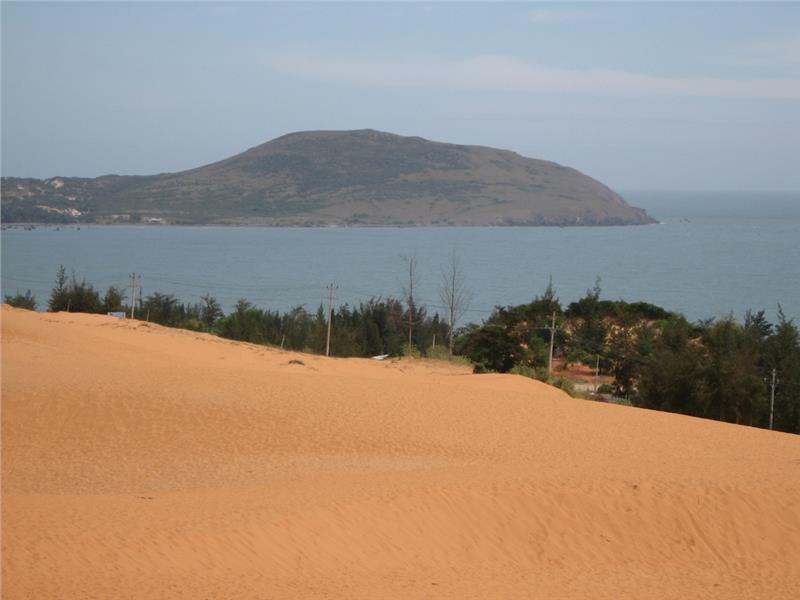 Red Sand Dunes overlooking the sea