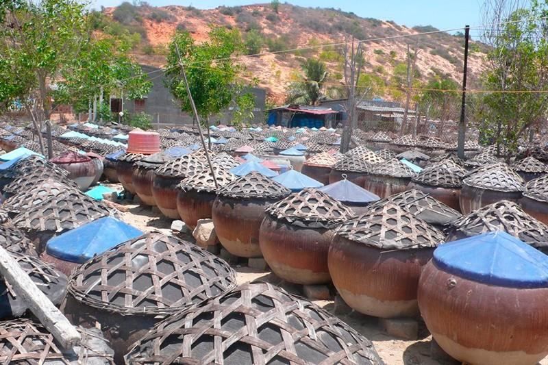 Inside Phan Thiet fish sauce factory