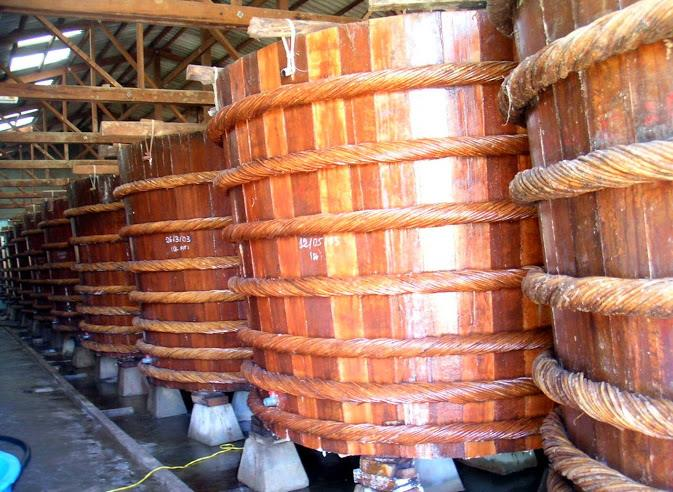 Vats in Phan Thiet fish sauce factories