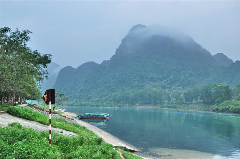 A stretch of Son River near Xuan Son Ferry