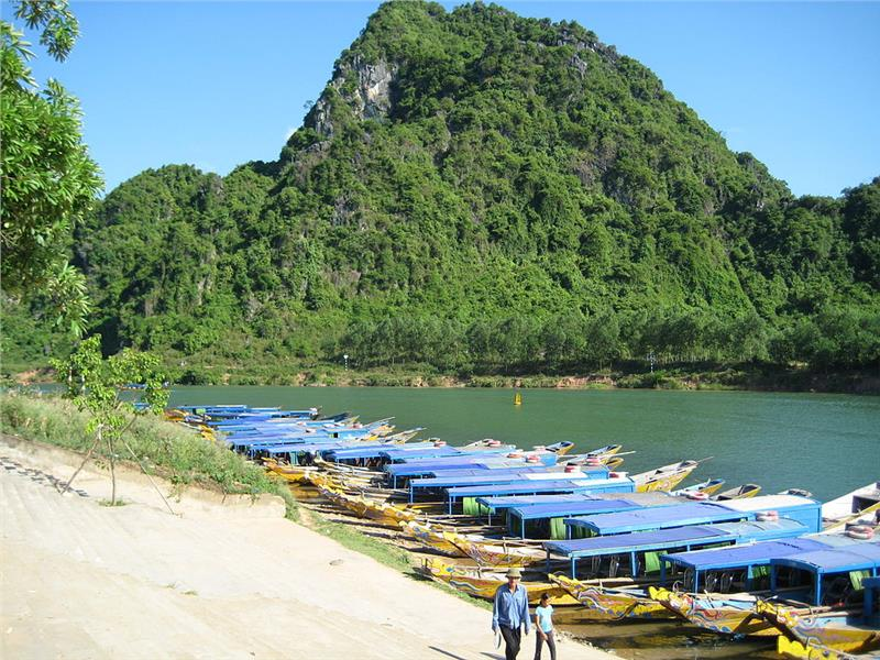 Boats for tourists in Phong Nha-Ke Bang
