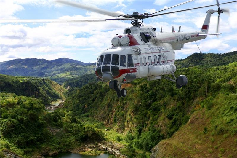 Phong Nha - Ke Bang has the first helicopter tourism service