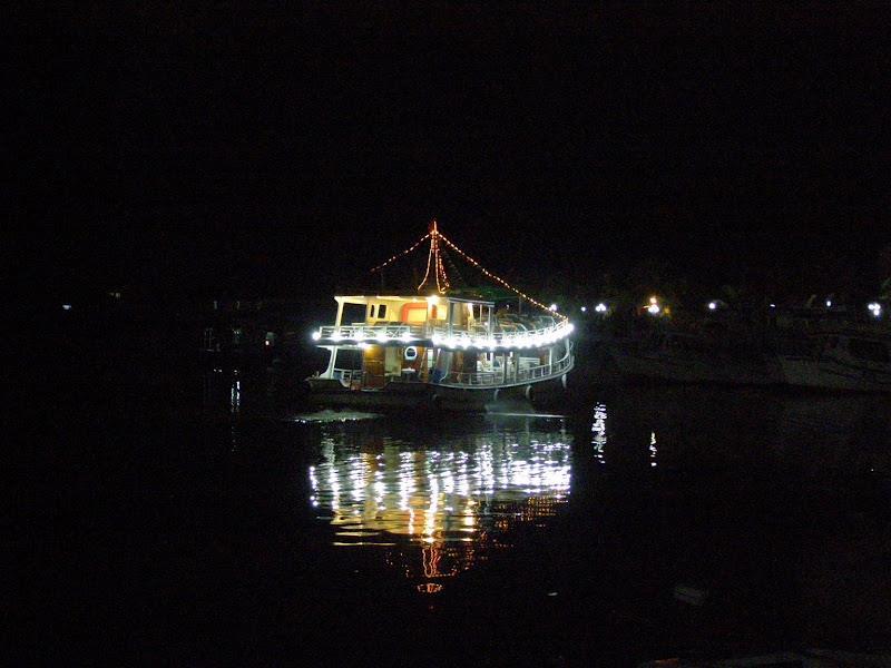 Boat serves squid fishing Phu Quoc
