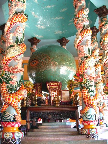 Sanctum inside Cao Dai Temple Phu Quoc