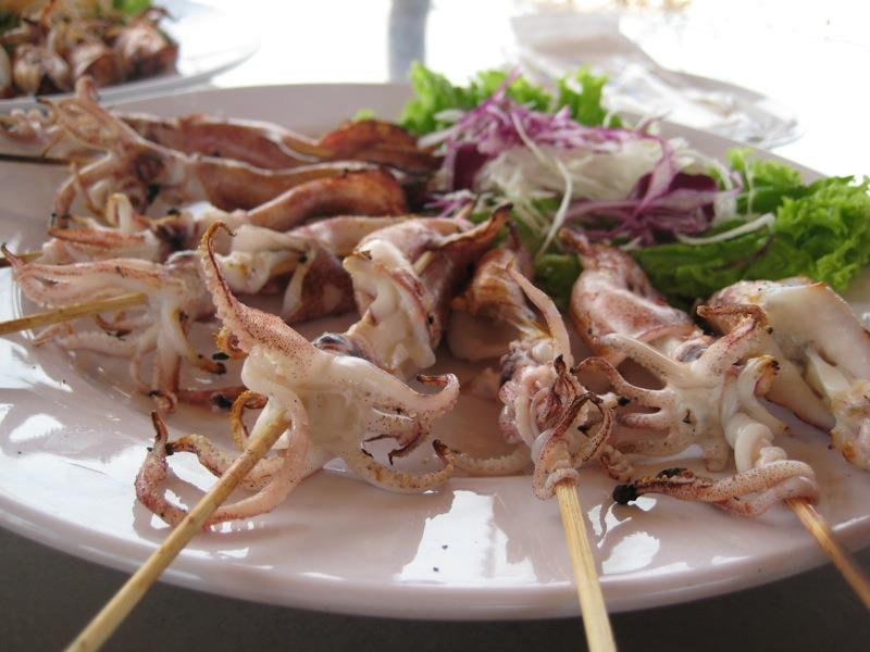 Grilled squid in Dinh Cau Night Market