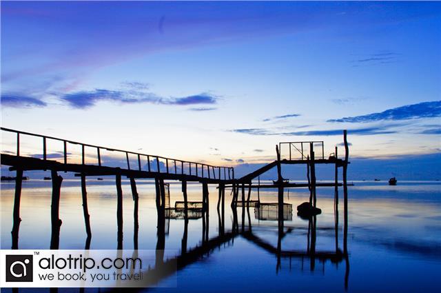 Ham Ninh in the sunset