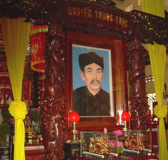 Inside Nguyen Trung Truc Temple