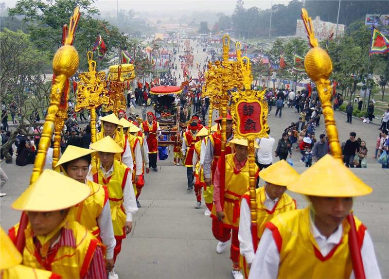 Offering ceremony in Hung King Temple Festival