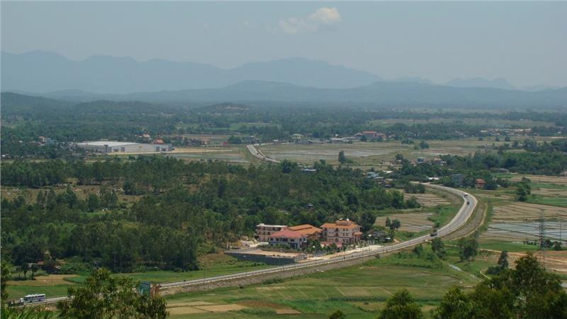 Quang Ngai view from Thien An mountain