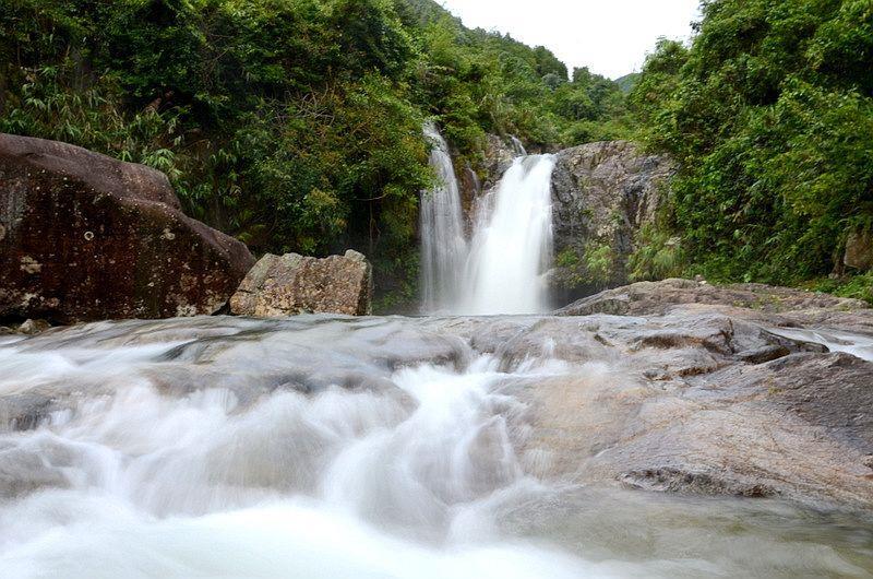 Thác sông Moóc A ở Bình Liêu
