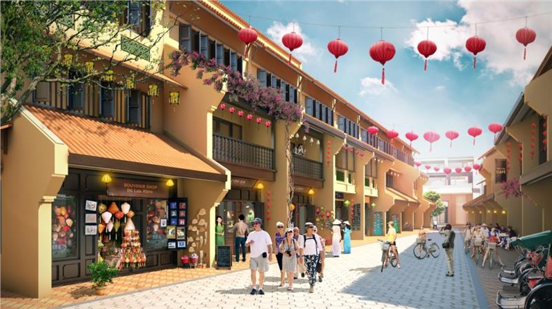Model of Hoi An Old Town in Little Vietnam project