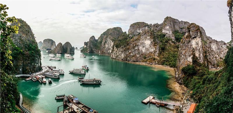 the beauty halong bay