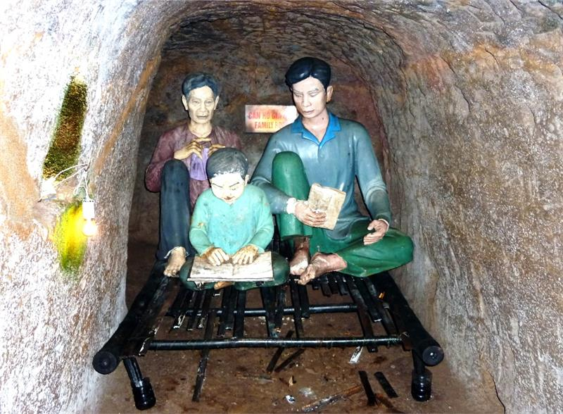 Family room in Vinh Moc tunnels