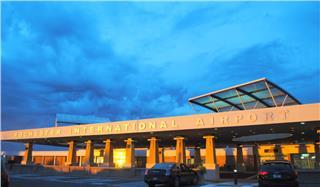 Bên trong nhà ga sân bay Rochester