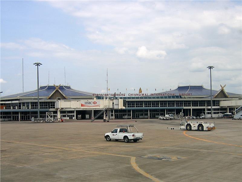 Bên ngoài sân bay quốc tế Chiang Mai