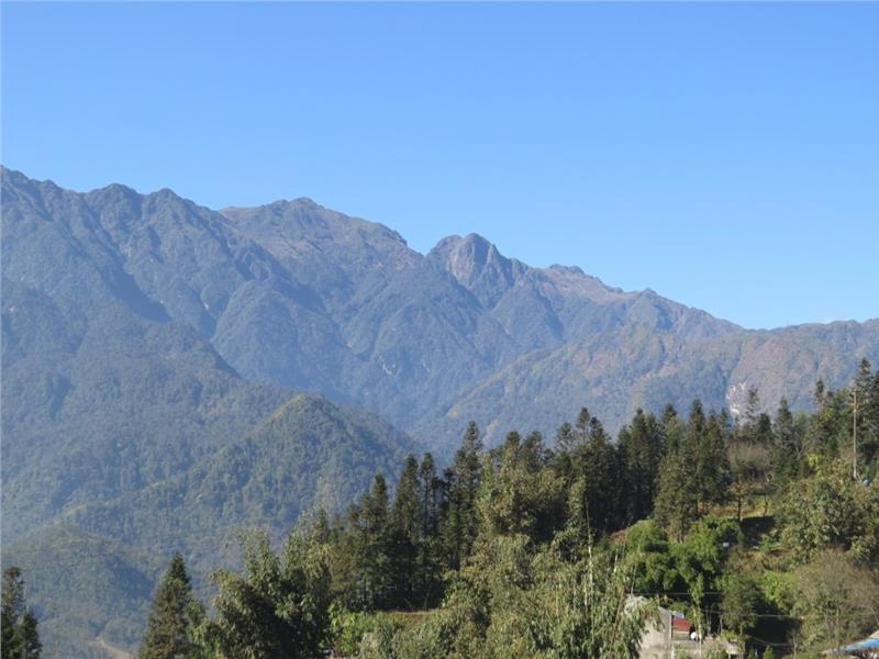 Fansipan, the highest mountain in Vietnam at 3143m