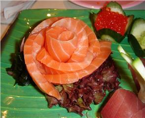 Enjoying specialties made from Sapa salmon
