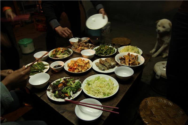 Homestay dinner in Sapa