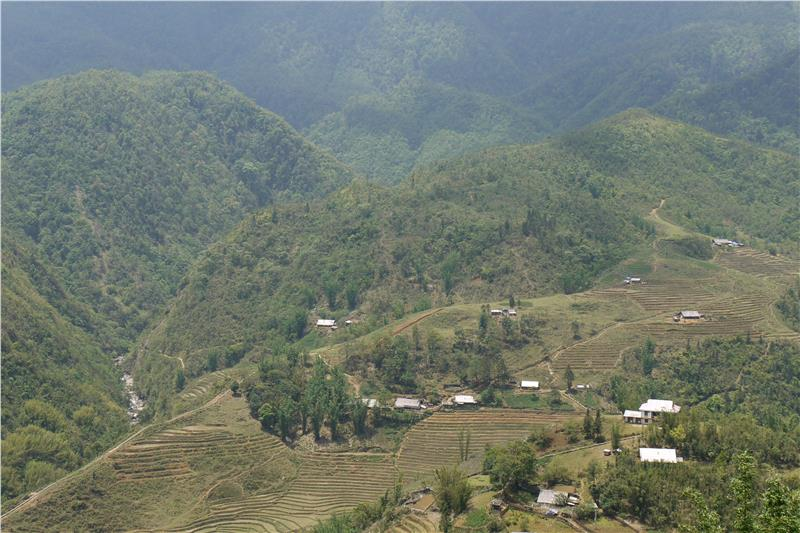 Hmong village of Cat Cat, near Sapa