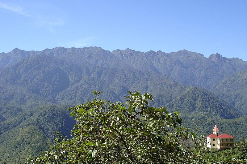 Hoang Lien Son Mountains seen from Sapa