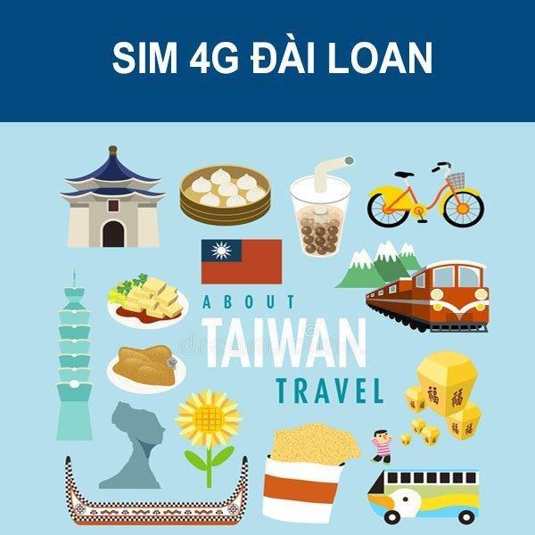 Sim du lịch Đài Loan - 10 ngày - 100GB - 4G - SB24