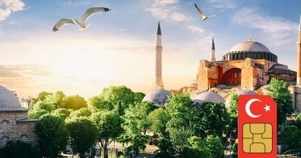 Sim du lịch Thổ Nhĩ Kì – 10 ngày – 300MB/ngày – 4G – SB14