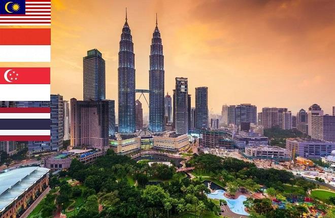Sim  du lịch Singapore - Malaysia - Thái Lan - 5 ngày - 500MB/ngày - 4G - Không gồm: Pattani/Yala/Narathiwat – SC04