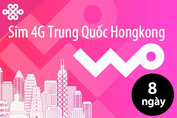 Sim du lịch Trung Quốc - Hồng Kong - 8 ngày - 5GB - 4G - SA02