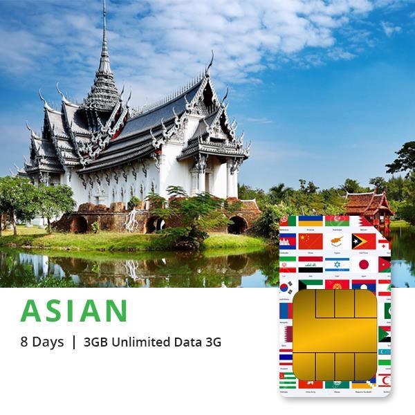 Sim du lịch Đông Nam Á 8 ngày 12 nước