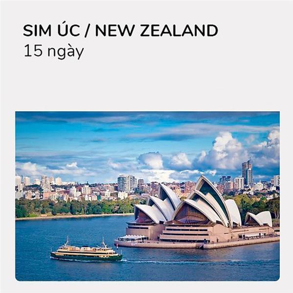 Sim du lịch Úc - Newzealand - 15 ngày - 6GB - 4G - Nghe gọi - SA13
