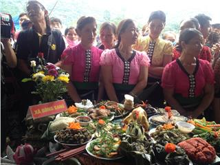 Delicious dishes of Thai ethnic group