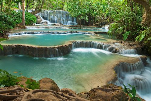 Kuang Si – Beautiful natural waterfall in Laos
