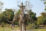 Striking Buddha Park in Laos