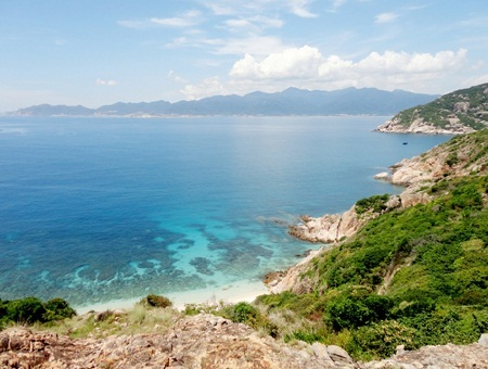 Binh Ba island  in a view