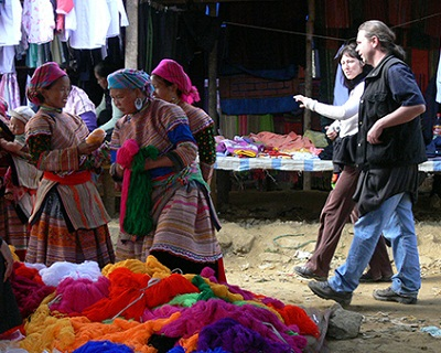 Foreigners in the Bac Ha fair