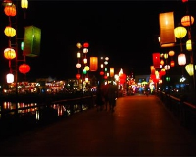 The light of the lanterns in Hoi An at night