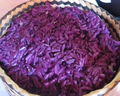 The steamed glutinous rice in Mai Chau