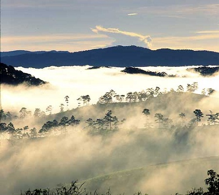 Lang Bian Plateau in Da Lat city