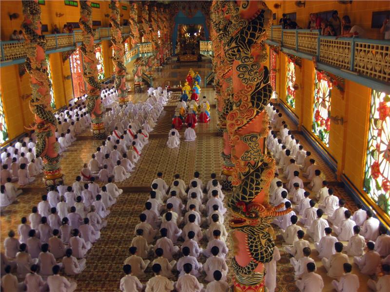 Cao Dai Temple in Tay Ninh