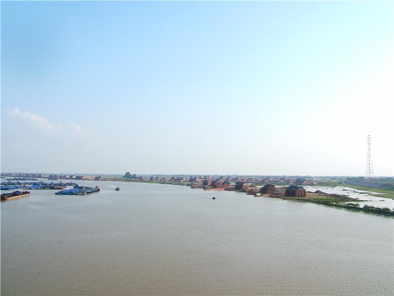 Luc Dau River in Thai Binh