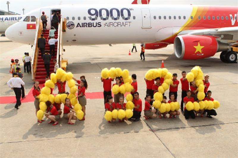 Ceremony of welcoming New A321 Airfcraft of Vietjet